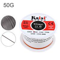50G 60-40 Tin Lead Rosin Core Solder Wire Soldering Sn60 Pb40 Flux 0.4/0.5/0.6mm