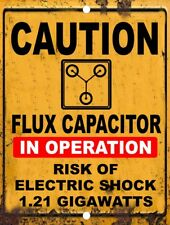 Retro Vintage Doc Brown Back To The Future Flux Capacitor 1.21 Gigawatt Tin Sign