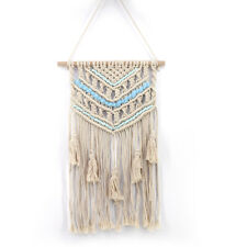 New Bohemian Macrame Wall Hanging Tapestry Handmade Woven Cotton Tapestry Decor