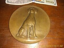 1876 CENTRAL MANUFACTURERS Mutual Insurance Medallic Art Chief Setter Dog Bronze