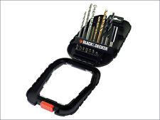 BLACK & DECKER 16 PEZZI Drill / Driver / Torx Bit Set Accessorio nel caso (h2b)