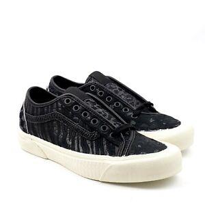 Vans Old Skool Zebra Leopard Snake Croc Fur Black Leather Shoes Womens Size 8
