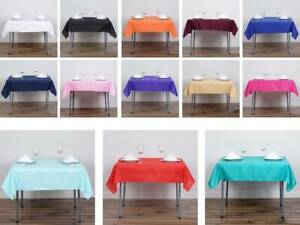 "54"" x 54"" Square 100% Polyester Linen Tablecloth"