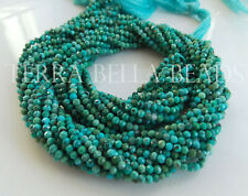 """12.5"""" natural ARIZONA TURQUOISE faceted gem stone rondelle beads 2mm blue green"""