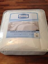 New Simmons Down Alternative Comforter Twin - 233 Thread Count Cover - White