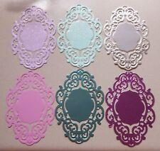 6 Anna Griffin Large Background Die Cuts Metallic Glitter & Regular Card Stock