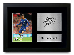 Mason Mount Signed Pre Printed Autograph A4 Photo Display Gift For a Chelsea Fan