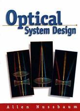 OPTICAL SYSTEM DESIGN By Allen Nussbaum - Hardcover