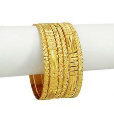 6Pc Indien Ethnique Plaqué Or Bracelet Bangles Bollywood Bijoux Traditionnel 2*4