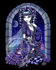Purple Moon Gothic Fairy 11x14 PRINT Myka Jelina ART FAE Mia