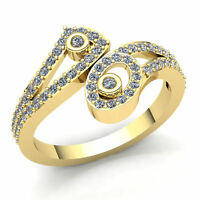Natural 1ct Round Cut Diamond Ladies Twisted Fancy Wedding Band 18K Gold