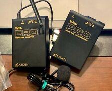 Azden WM-PRO Wireless Professional Transmitter/Receiver with Lapel Microphone