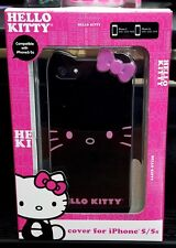 NEW Hello Kitty Apple iPhone 5/5s Case BLACK/PINK by Sanrio kids girly design