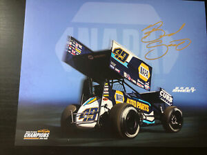 2021 Brad Sweet Signed World Of Outlaws Handout