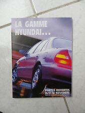 Hyundai Pony Lantra Sonata Coupé gamme  - catalogue dépliant brochure prospekt