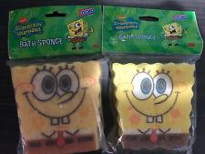 (2) Vintage 2003 SpongeBob SquarePants Bath Sponge Nickelodeon Lot New Sealed