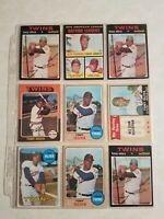Tony Oliva Baseball Card Mixed Lot approx 24 cards