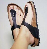 Birkenstock Women's Gizeh Thong Black Flip Flops Sandals! Size EU 39 US 8