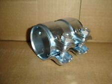 """2.50"""" X 3.75"""" STAINLESS STEEL (SS409)  EXHAUST SLEEVE CLAMP HEAVY DUTY"""