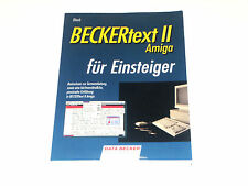 < Amiga BECKERtext II für Einsteiger > Data Becker Buch (Z2G021)