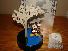 DISNEY Illuminated Tree MICKEY MOUSE Figure HP Lights Up Sculpture LE 2500 *NEW*