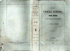 GENERAL G. DONNADIEU DE LA VIEILLE EUROPE DES ROIS ET DES PEUPLES 1837 PAMPHLET