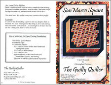 Guilty Quilter San Marco Square Pattern GQU01 FREE US SHIPPING