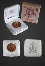 Medaille Vatikan 2014 Bronze Heiligsprechung Papst Johannes Paul XIII u. Paul II