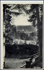 Bad elster Sajonia 1934 dt. Reich ak mirada a distancia árboles