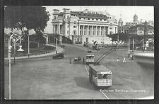 Singapore rppc Fullerton Building Trolley Empress Place 20s