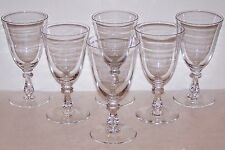 EXQUISITE SIGNED VAL ST LAMBERT CRYSTAL CONCERTO SET OF 6  WATER GOBLETS 6 7/8""