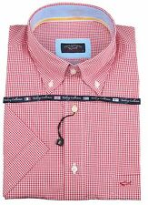 """Paul & Shark Yachting Camicia Shirt a Maniche Corte Misura 42 16.5"""" Yachting Collection rosso"""
