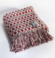 Loom & Bobbin UK Made Wool Blanket Welsh Tapestry / Fair Isle Design - Robin