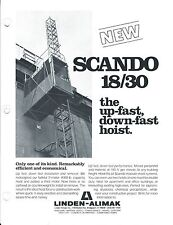 Equipment Brochure - Scando - 18/30 20/30 C Construction Hoist - 3 item (E3416)