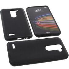 Funda para LG x Mach Smartphone Funda protectora de móvil TPU GOMA FUNDA NEGRA