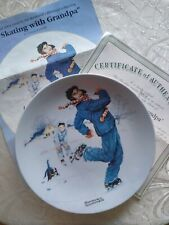 New Listing2004 Norman Rockwell Heritage Collection Plate Ice Skating With Grandpa