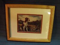 """PROFESSIONAL SIGNED 5"""" BY 7"""" BRITTANY SPANIEL NATURE SCENE FRAMED PHOTO"""