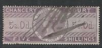 Queen Victoria  - 5s. - Chancery Court - Lilac - Used.