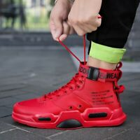 Mens High-top Breathable Sneaker Student Sports Fashion Casual Shoes Personality