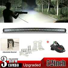 Curved 52inch 3800W LED Light Bar Flood Spot Roof Driving Truck RZR SUV 4WD 50''