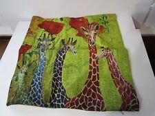 """JellyBean Giraffes-Pillow Cover only:18"""" Vintage French Country Cottage Look"""
