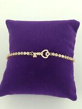 925 argento sterlina mi MILANO rose gold tennis bracelet Bracciale in Cristallo Regalo chiave