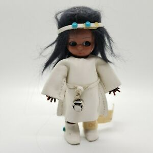 Vintage Heritage Dolls Native American Indian White Leather