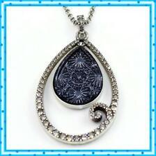 Brighton Sea of Love Teardrop Blue Sapphire Crystal Pendant Necklace NWotag