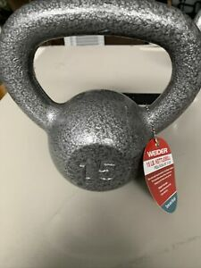 Weider Cast Iron 15lb Kettlebell 15 Lb Best Service Home Gym Weights Exercise