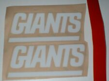 NEW YORK GIANTS FULL SIZE FOOTBALL DECALS