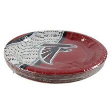 "New NFL Atlanta Falcons 20 Disposable 9.75"" Paper Plates Party Supplies"