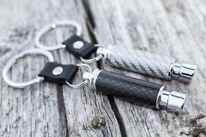 Muffler Keychain Boost Carbon Fiber Drift tuning low car auto Exhaust Pipe