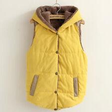 Women Winter Fleece Vest Sleeveless Coat Hooded Hoodie Jacket Waistcoat Outwear