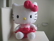 "GIANT Big Sanrio Hello Kitty HELLO KITTY PINK DRESS 21"" Plush Stuffed Animal NWT"